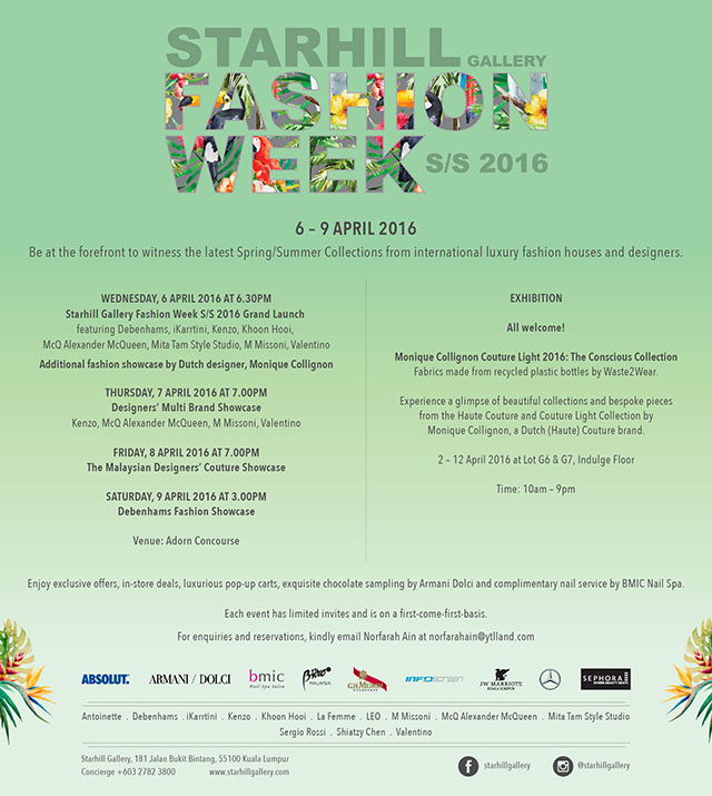 Starhill Gallery Fashion Week SS16 set to dazzle this April (фото 2)