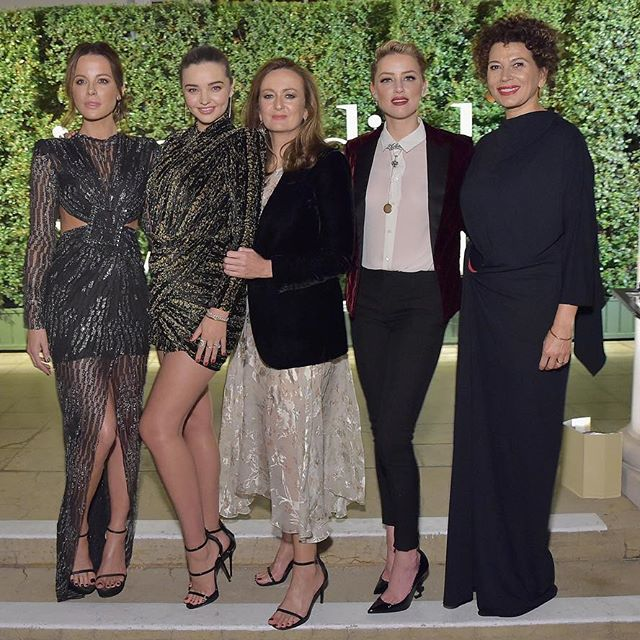 INCREDIBLE WOMEN: Last night in Los Angeles @lucy_yeomans, Editor-In-Chief of @portermagazine, and Donna Langley of @universalpictures celebrated the #IncredibleWomen who made us #OneYearStronger alongside @mirandakerr, @katebeckinsale and @amberheard and in partnership with @vitalvoices and @esteelauder.    See more from the star-studded soiree now in Stories.