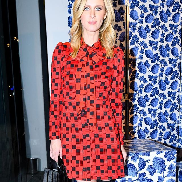 That s a wrap! @nickyhilton came out to celebrate #NYFW looking chic and #incharge wearing a DVF dress from a past collection.