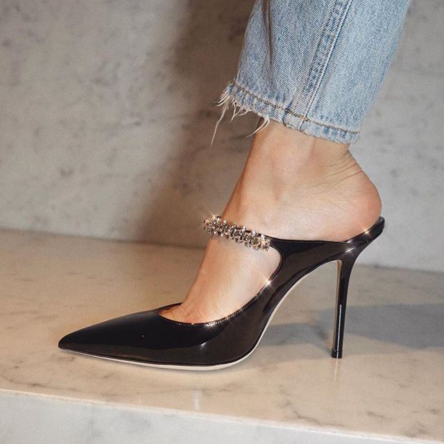 Step out in @jimmychoo   tap to shop. pc: @cassdimicco