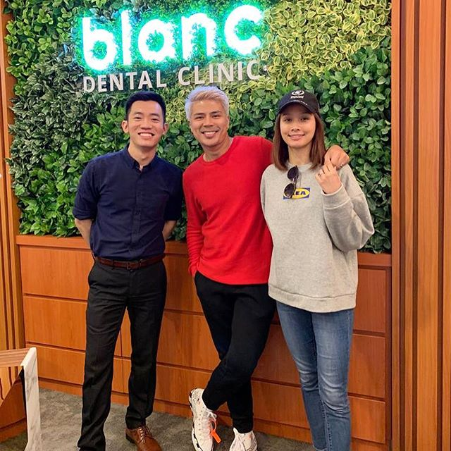 30 minutes whitening and air flow treatment with @dr.mike.lim at @blancdentalclinic today!  Will share our experience on stories later!