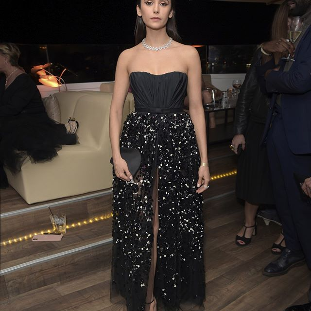 The charismatic actress and model Nina Dobrev was the woman to watch at yesterday s after-party at the 2019 Cannes Film Festival. Her black bustier jumpshort and embroidered skirt in black tulle are from Dior s Autumn-Winter 2019-2020 collection by #MariaGraziaChiuri. Makeup by @diormakeup.  #StarsinDior #DiorCannes   GET THE @diormakeup LOOK DIOR BACKSTAGE FACE AND BODY FOUNDATION 3N DIOR ON STAGE LINER 091 Matte Black PALETTE 5 COULEURS WILD EARTH 696 Sienna DIORSHOW IN & OUT EYELINER 001 Blue/Black DIOR ADDICT LIP MAXIMIZER 001 Pink