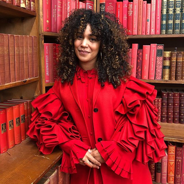 #StrandXValentino: Author Elizabeth Acevedo @acevedowrites of #ThePoetX, a New York Times bestseller, took us on a tour of @strandbookstore and through the works that inspire her. #VRosso