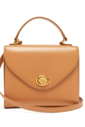 Valentina monogram leather handbag, Mark Cross