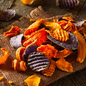 Healthy snacking: Vegetable chips