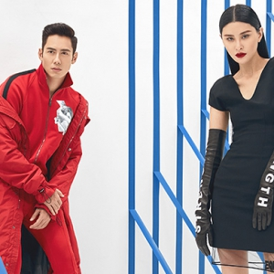 Juwei Teoh and JC Chee will sizzle in Versace this winter