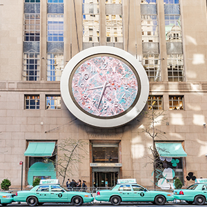 Tiffany & Co. paints New York City blue