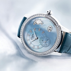 Glashütte Original introduces a true-blue beauty to its PanoMatic Luna model