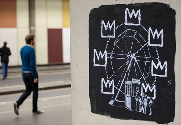 Why Banksy painted new murals at the Barbican