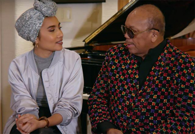 """Water and music are the two things you can't live without,"" Quincy Jones tells Yuna"