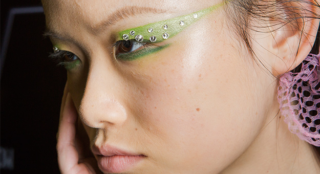 Prada proves that crystal-studded eye makeup is here to stay