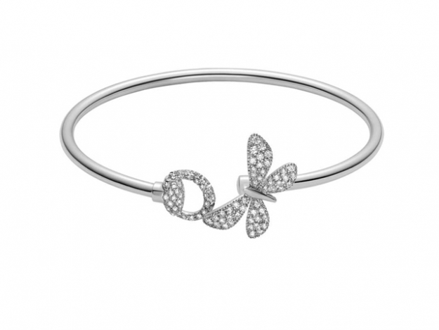 Gucci Flora bracelet in 18kt white gold and diamonds