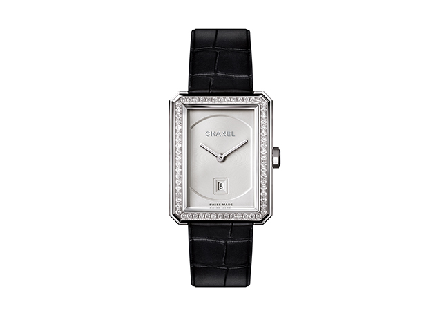 Chanel Boy.Friend watch in 18-karat white gold with diamonds
