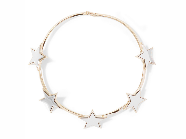 Givenchy star choker in pale-gold and silver-tone