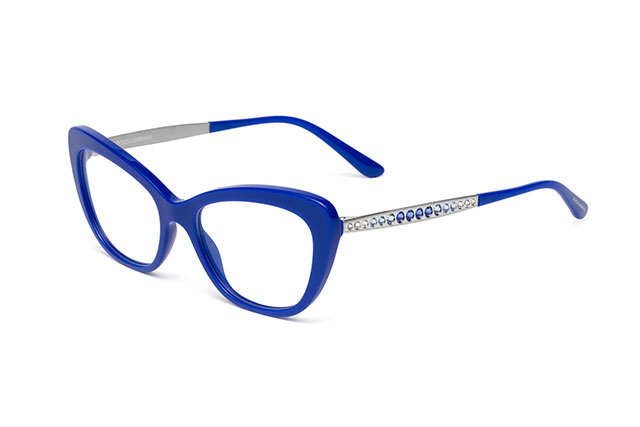 DG3275B - Blue with silver temples and blue crystals
