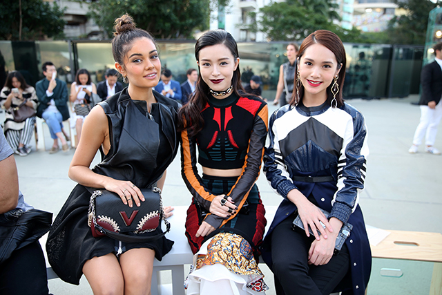 Sophie Charlotte, Janice Man, and Rainie Yang
