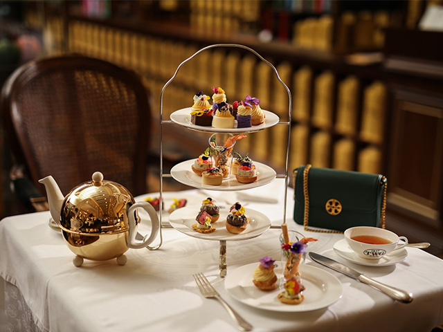 Available now: Tory Burch and TWG Tea's high tea set