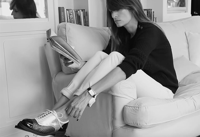 Caroline de Maigret takes Chanel's latest derbies out for a spin