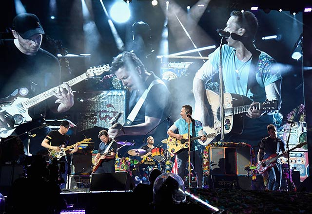 Watch: Coldplay and Michael J. Fox play 'Back to the Future' songs onstage