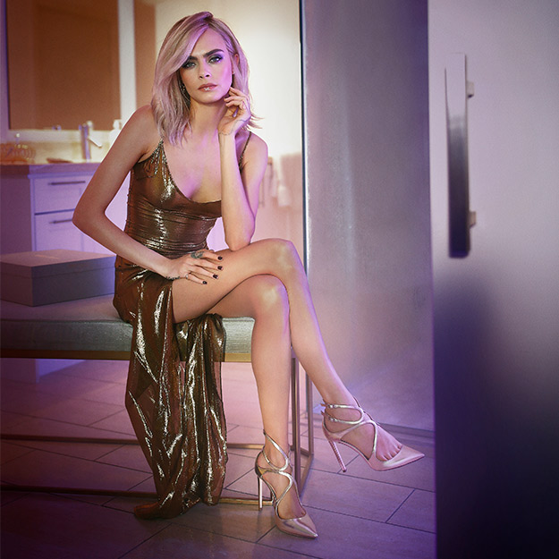 Cara Delevingne is our new party-girl crush in Jimmy Choo's latest campaign