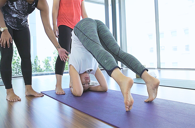 #FitnessFriday: Team attempts Inversion Yoga at BE Urban Wellness