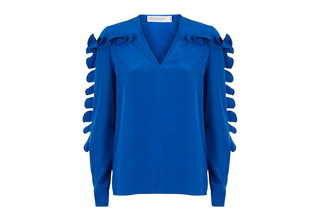 Victoria, Victoria Beckham ruffle sleeve blouse