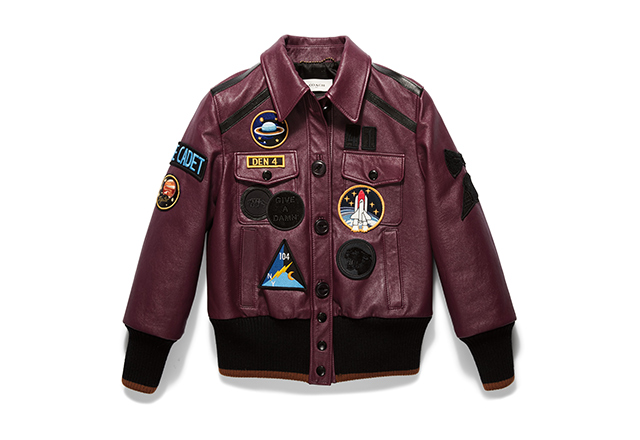 Leather Jacket with Patches