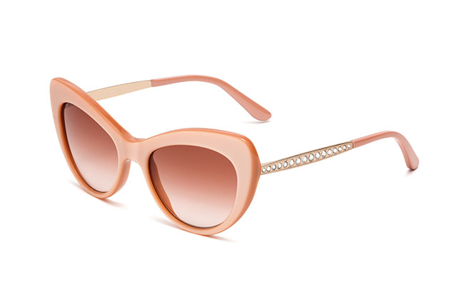DG4307B - Pearl pink with rose gold temples, crystals and pink gradient lenses