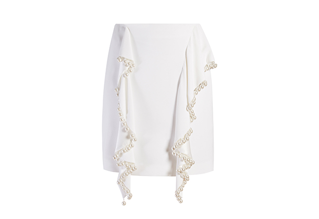 Givenchy faux-pearl embellished skirt