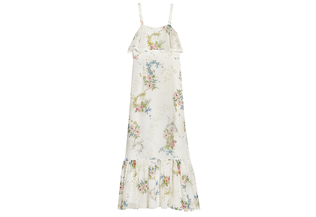 Nothing screams summer as much as this Topshop Unique silk-georgette maxi with floral prints inspired by the Henley Royal Regatta