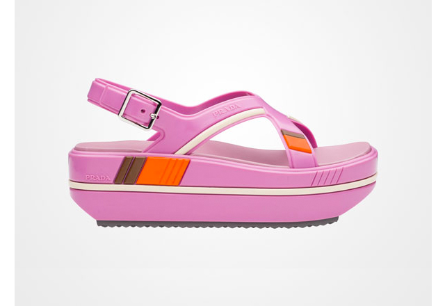 Prada rubber wedge sandal