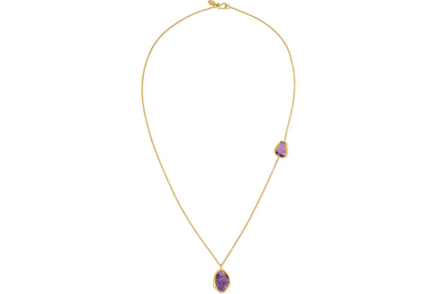 Pippa Small gold amethyst necklace