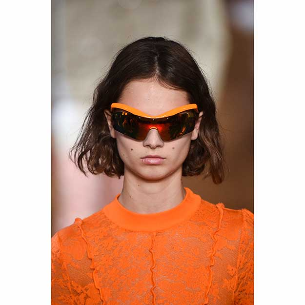 As opposed to tiny iterations, McCartney goes bold with sporty frames