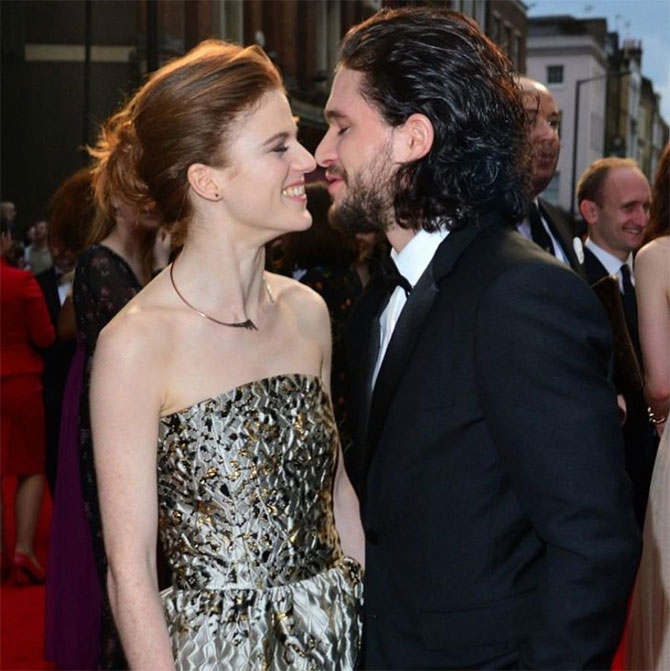 Kit Harrington and Rose Leslie – Game of Thrones<p> </p>