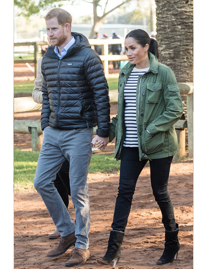 February 25: At the Moroccan Federation of Equestrian Sport<p>Jacket by <b>J.Crew</b>, and boots by <b>Stuart Weitzman</b></p>