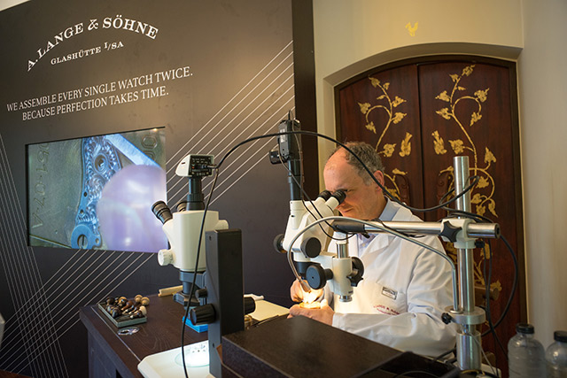 One of the six master engravers at Lange's Glashütte manufacture, Peter Lippsch