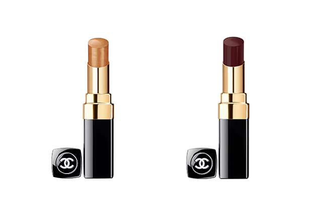 Rouge Coco Shine in Beige Doré and Noir Moderne