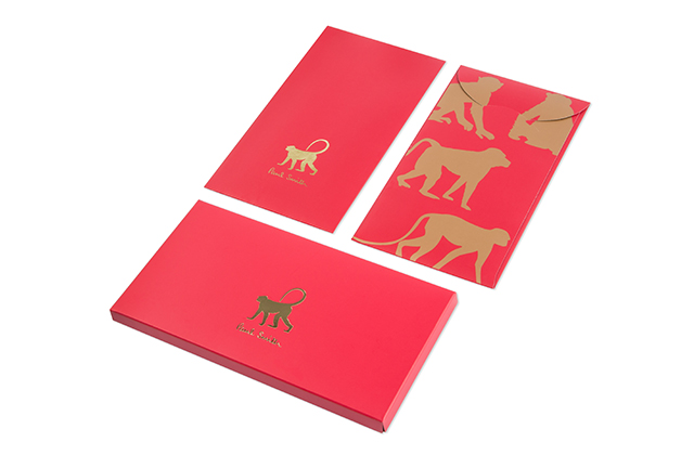 Go the extra mile while you're being generous with Paul Smith 'Year of the Monkey' red envelopes