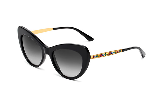 DG4307B - Black with gold temples and multi-coloured crystals