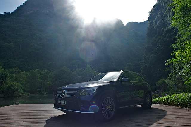 The Mercedes-Benz A-Class poses for a picture at The Banjaran Hotsprings Retreat