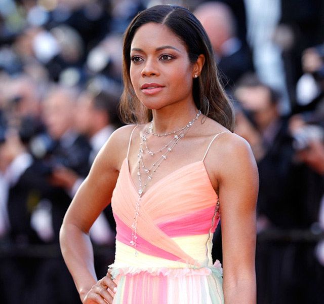 Naomie Harris wore a collier and ear studs from Atelier Swarovski's Concentric collection
