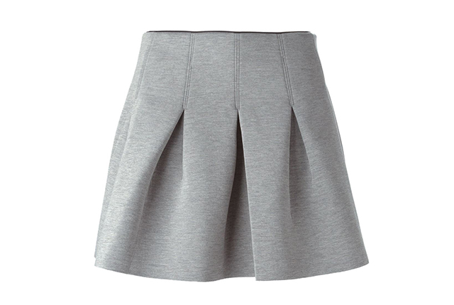 T by Alexander Wang scuba neoprene skirt, available at farfetch.com