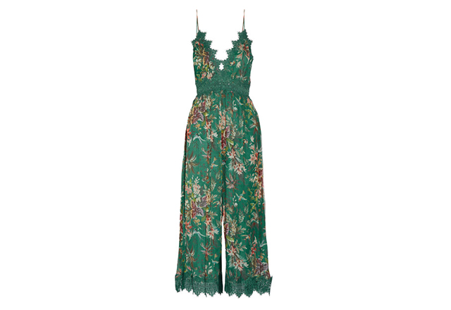 Zimmermann Tropicale printed crinkled silk-georgette jumpsuit