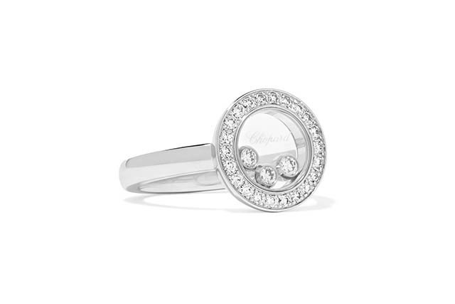 Happy Curves white gold diamond ring