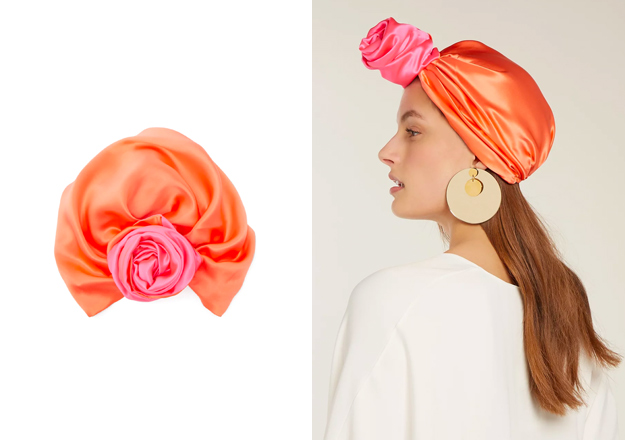 Reversible silk turban hat, Julia Clancey<p><a style=""\"" target=""_blank"" href=""https://www.matchesfashion.com/intl/products/Julia-Clancey-Reversible-silk-turban-hat-1218807""><b>Shop here</b></a>.</p>625|440|?|54474a992d13838416107f8b078a7ffe|False|UNLIKELY|0.35082489252090454