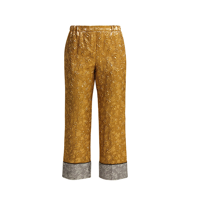 Cropped lamé-cloqué trousers, £358 (approx. RM1,902) No.21 at Matchesfashion.com