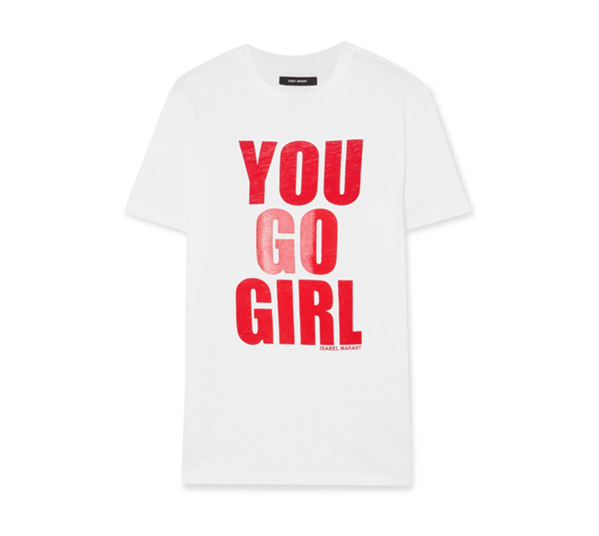 International Women's Day printed cotton-jersey T-shirt, Isabel Marant