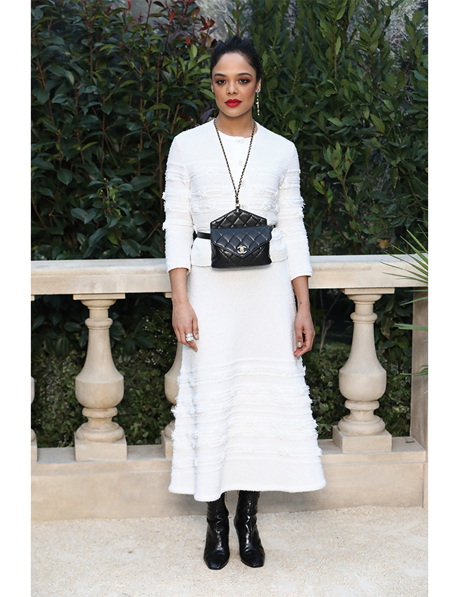 In Chanel at Chanel's Spring/Summer 2019 Haute Couture
