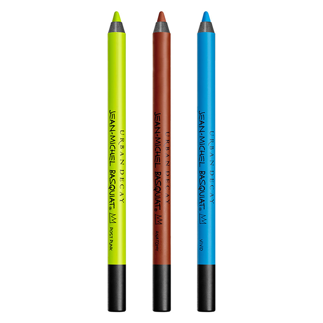 """I did a lot of art classes in college and I always drew with those Conté crayons in a burnt sienna colour so that was what inspired the 24/7 Glide-On eye pencil in Anatomy (middle)\"""