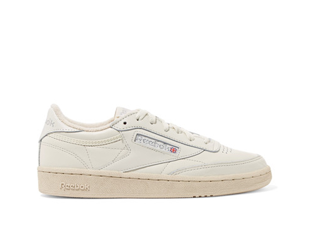 It's not a sin to stay grounded on your big day. However, ditch the Chucks and the Vans; go with the stylish Reebok Club C 85 vintage leather sneakers instead.